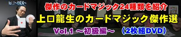 『上口龍生のカードマジック傑作選・Vol.1 〜初級編〜 (2枚組DVD)』